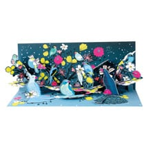 Midnight Birds Lighted Pop-Up Card