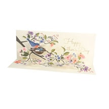 Perched Birds Mother's Day Pop-Up Card