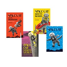 Space Cat - Set of four