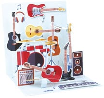 Guitar Pop-Up Father's Day Card