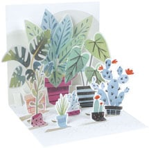 Potted Plants Pop-Up Card