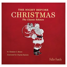 The Night Before Christmas Leatherbound Keepsake Edition - Personalized