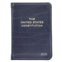 U.S. Constitution Leatherbound Keepsake - Personalized