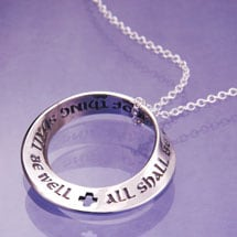 All Shall Be Well Möbius Necklace