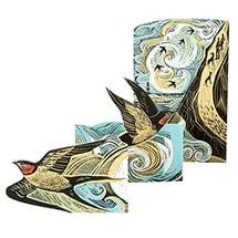Cornish Swallows Fold-Out Card