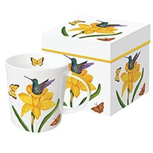 Floral Nest Mugs - Daffodil