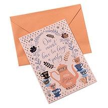 Jane Austen Tea Party Birthday Card