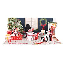 Cats and Gifts Lighted Pop-Up Card