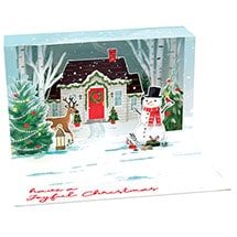 Holiday House Pop-Up Lighted Card